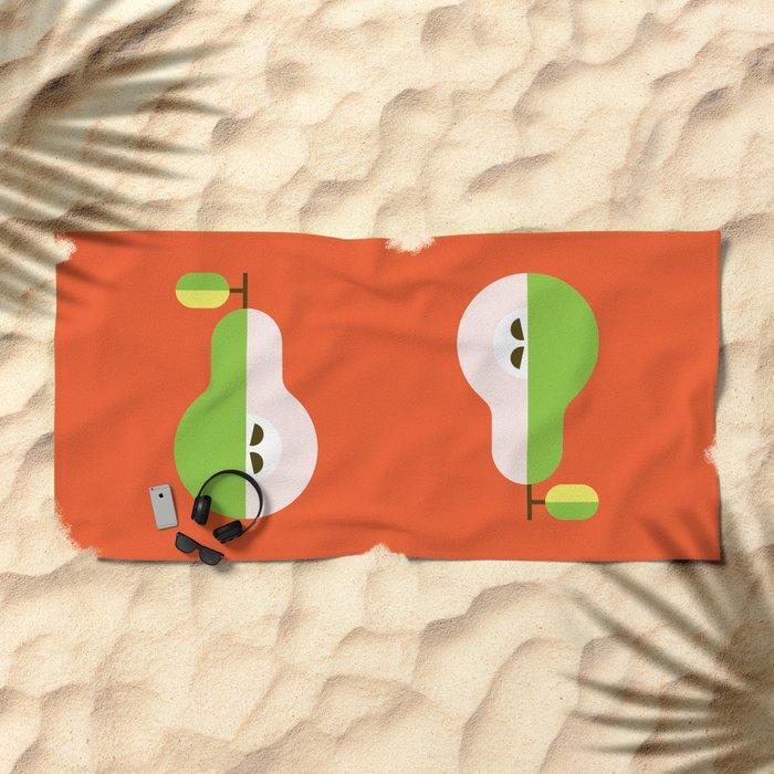 Fruit: Pear Beach Towel