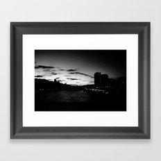 black city.  Framed Art Print