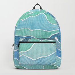 water, ripples and currents Backpack