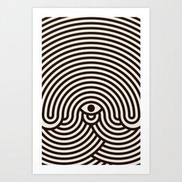 One-eyed monster Art Print
