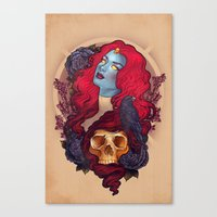 raven Canvas Prints featuring Raven by Megan Lara
