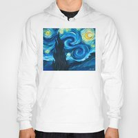 starry night Hoodies featuring Starry Starry Night by Jade Cohen
