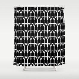 Hana and Wind logo's collection - pattern n2 - version black Shower Curtain