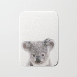 Baby Koala, Baby Animals Art Print By Synplus Bath Mat