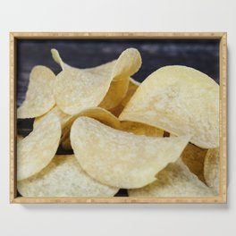 light-colored thin potato chips Serving Tray