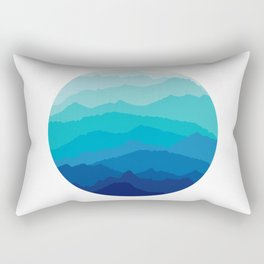 Blue Mist Mountains Rectangular Pillow