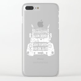 trucker truck truck lorry lorry lorry Clear iPhone Case