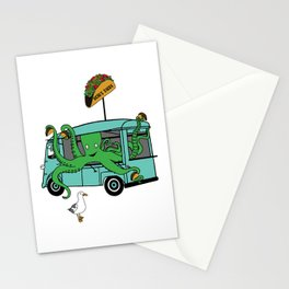 Flock of Gerrys Octo's Taco Cart by Seasons Kaz Sparks Stationery Cards