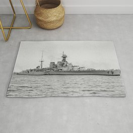 HMS Hood Battlecruiser Rug