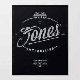 """Jones' Rare Antiquities"" - silver version Canvas Print"