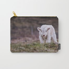 White Highland Calf Carry-All Pouch