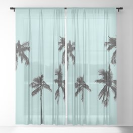 Palm trees 5 Sheer Curtain