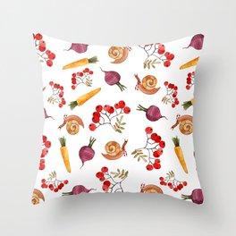 Veggy pattern Throw Pillow