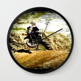 Dirt-bike Racer Wall Clock