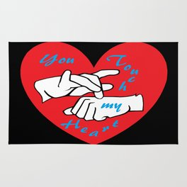 ASL You Touch My Heart! Rug