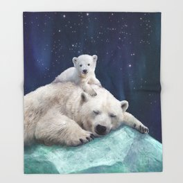 Polar Bears Throw Blanket