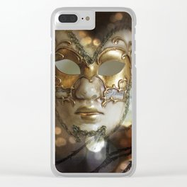 Venetian Golden Beauty Clear iPhone Case
