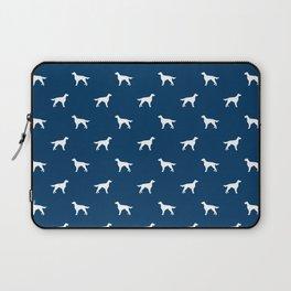 Irish Setter dog silhouette minimal dog breed pattern gifts for dog lover Laptop Sleeve