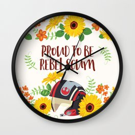 Proud To Be Rebel Scum Wall Clock