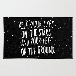 Eyes on stars, feet on the ground Rug