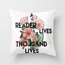 A Reader Throw Pillow