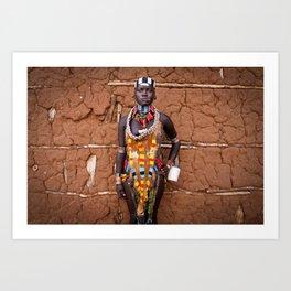 Hamer girl, Ethiopia Art Print