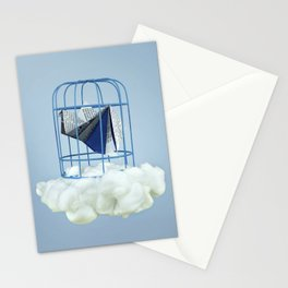 Cloud under prisoner bird Stationery Cards