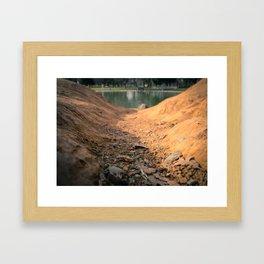 Down Hill Framed Art Print