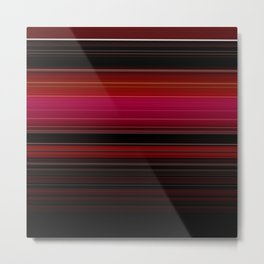Rich Red Wine Striped Pattern Metal Print