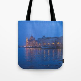 The parliament in Budapest. Tote Bag