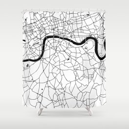 London Minimal Map Shower Curtain