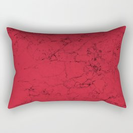 Red Marble Rectangular Pillow