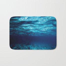 Blue Underwater Bath Mat