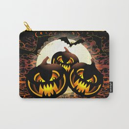 Black Pumpkins Halloween Night Carry-All Pouch