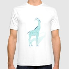 Animal Kingdom: Giraffe II SMALL White Mens Fitted Tee