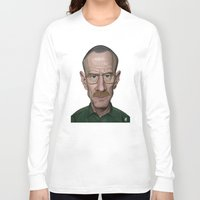 actor Long Sleeve T-shirts featuring Celebrity Sunday ~ Bryan Cranston by rob art | illustration