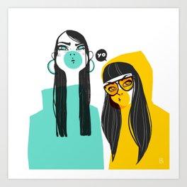 Bubble G▲ng Art Print