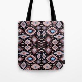 Midnight Pink Aztec Illustration Tote Bag