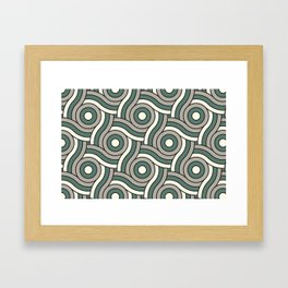 Circle Swirl Pattern Ever Classic Gray 32-24 Thistle Green 22-18 and Dover White 33-6 Framed Art Print