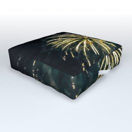 Exploding Colors Outdoor Floor Cushion