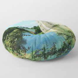 Castle and it's Moat Floor Pillow