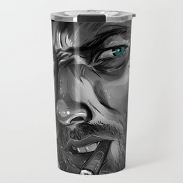 Clint Eastwood Fan Art Travel Mug