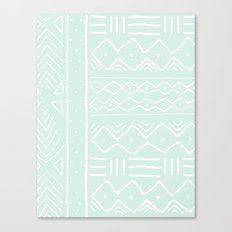 Mudcloth in mint Canvas Print