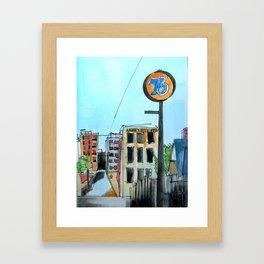 76 Walnut Street Asheville  Framed Art Print