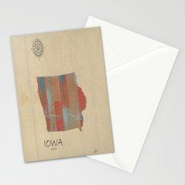 Iowa state map Stationery Cards