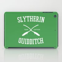 slytherin iPad Cases featuring Hogwarts Quidditch Team: Slytherin by IA Apparel