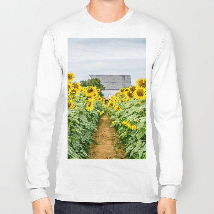 Follow the Yellow Flower Road Long Sleeve T-shirt