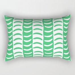 Wavy Stripes Green Rectangular Pillow