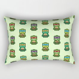 Chibi Ninja Turtles Rectangular Pillow