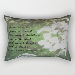 Have a Heart Charles Dickens Rectangular Pillow